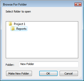 Edit autorun menu: add new folder dialog